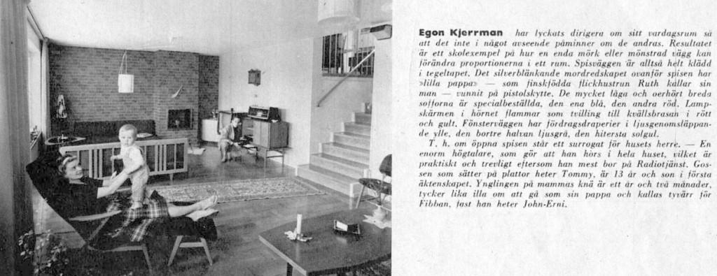 Hemma hos Egon Kjerrman